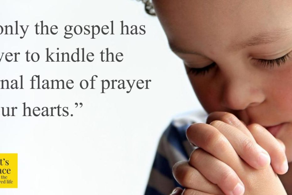 A child's responsive prayer